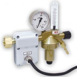 GCE redukční ventil Oxid uhličitý DIN + FLOW N1 s plovákovým průtokoměrem a ohřívačem 24V