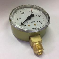 Výstupní manometr ⌀ 63 - acetylen