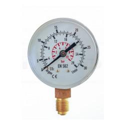 GCE vstupní manometr ⌀ 63 - dusík N