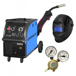 SET Kühtreiber KIT 2200 Svařovací stroj + ventil + hořák KTB15 4 m + maska + 4-kladkový posuv
