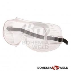 Ochranné brýle čiré s gumičkou