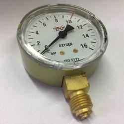 Výstupní manometr O2 ⌀ 63 - kyslík