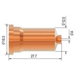 Dýza 1,0 kontaktní 40-50A